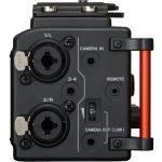 Foto van de linkerkant van de Tascam DR-60D mk2 audiorecorder.
