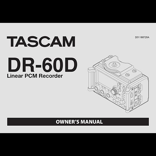 Voorpagina handleiding Tascam DR-60D.