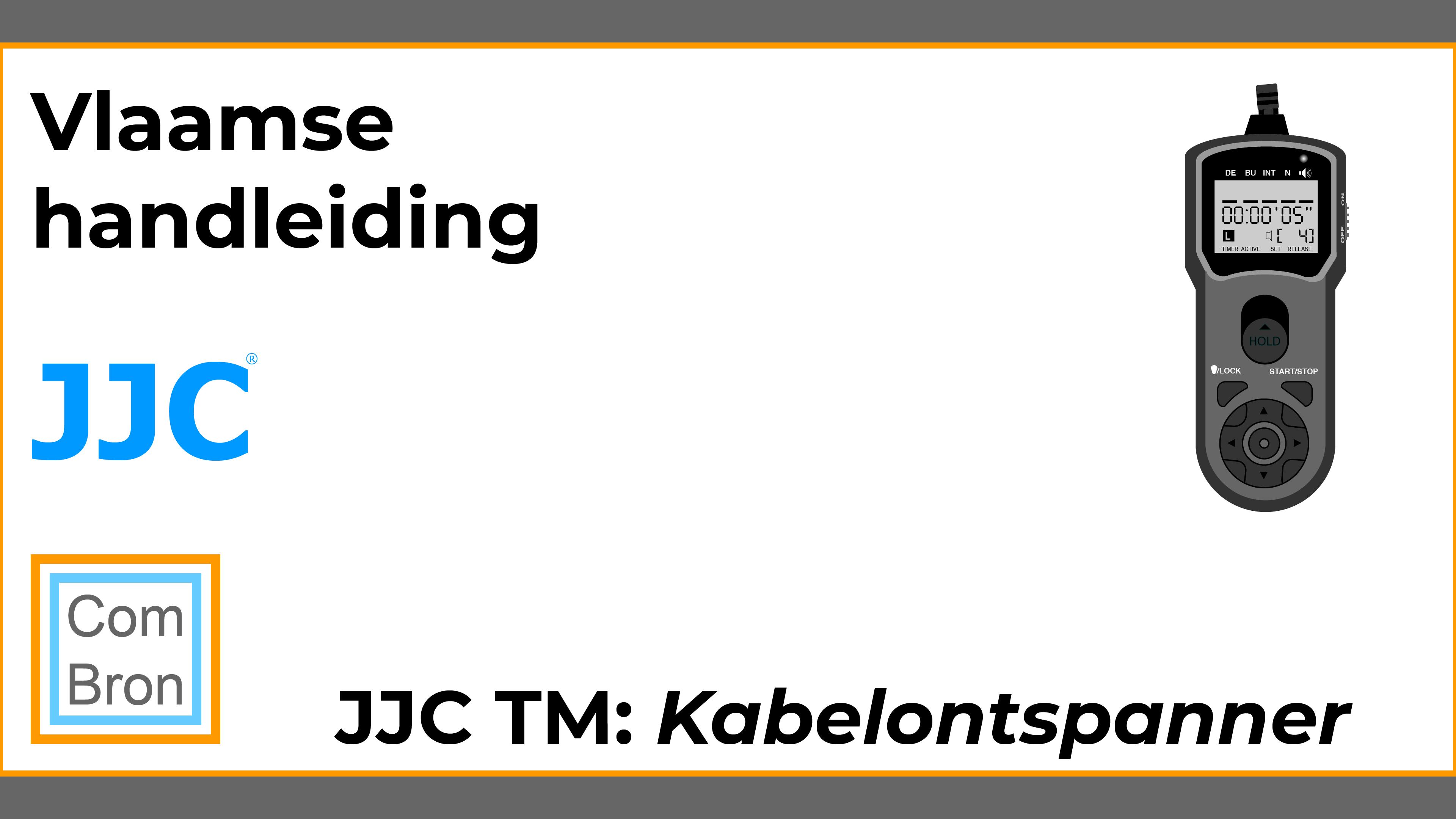 JJC TM gebruiken als draadontspanner of kabelontspanner.
