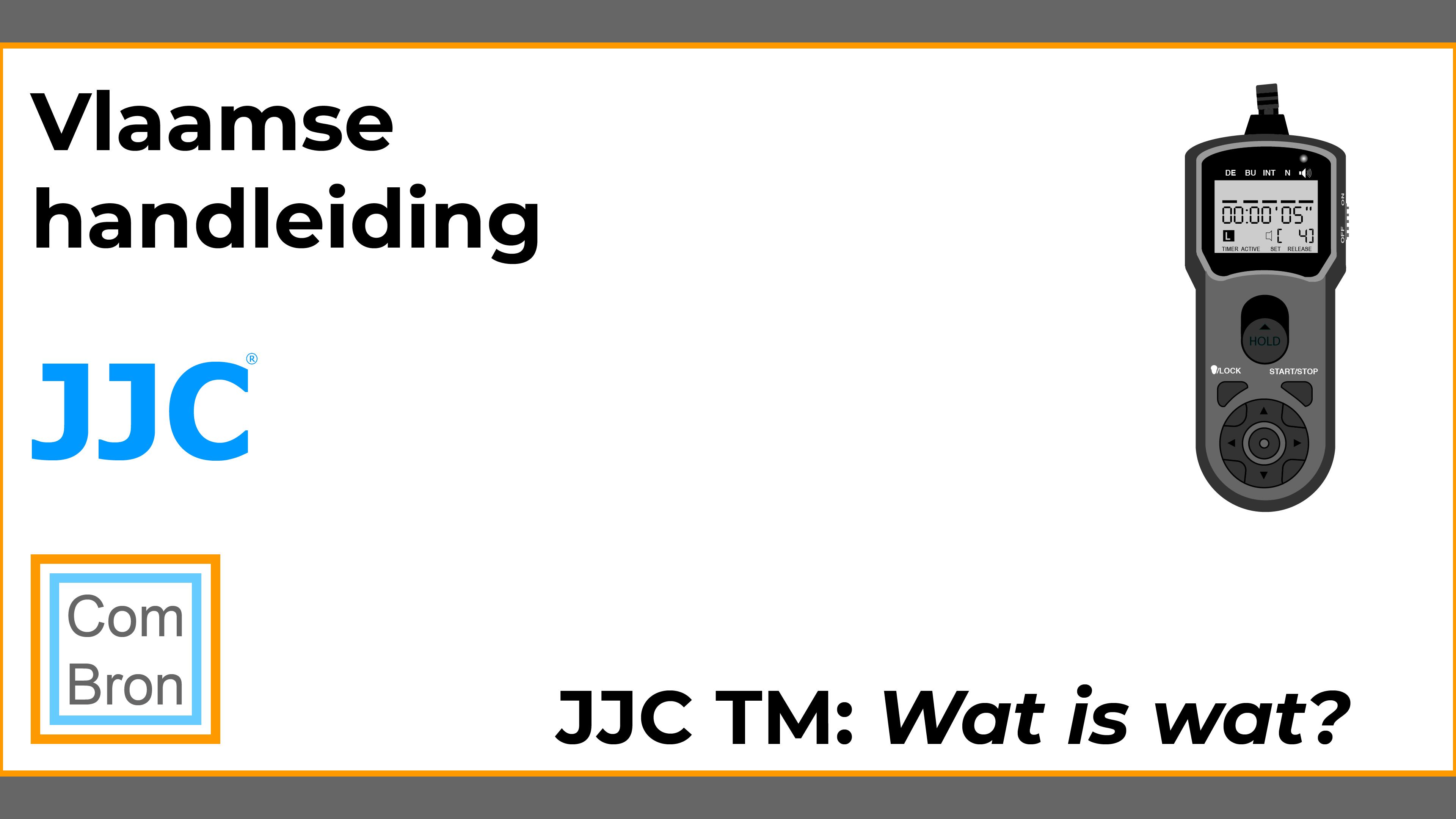 Wat is wat? Uitleg onderdelen JJC TM.