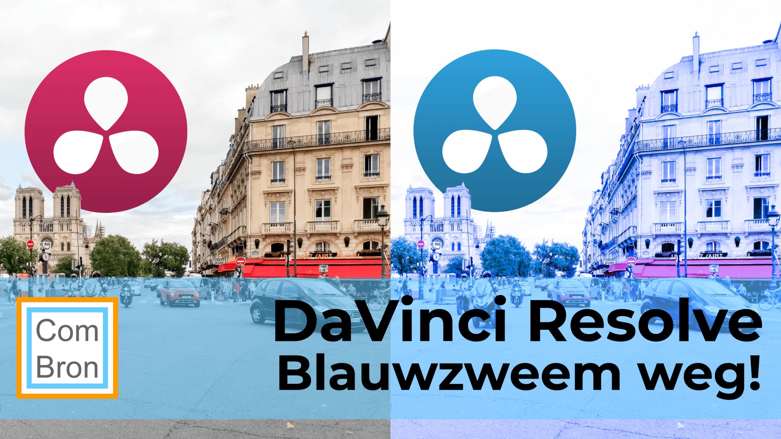 Blauwzweem in video verhelpen met DaVinci Resolve door white balance aan te passen.